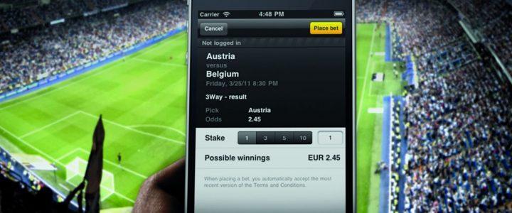 Football betting on European bookmaker